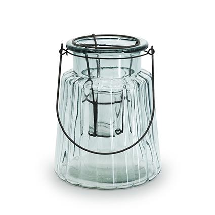 Glass 'isabella' green h22 d17
