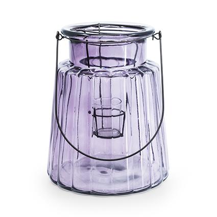 Glass 'isabella' purple h25d20