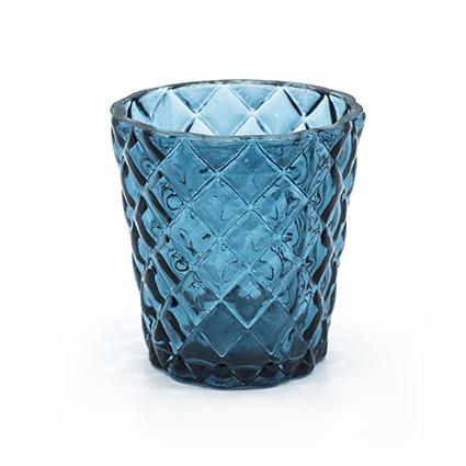 Sfeerlicht 'loulou' blauw h7.5 d7.5 cm