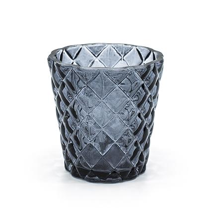 Sfeerlicht 'loulou' grijs h7,5 d7,5 cm