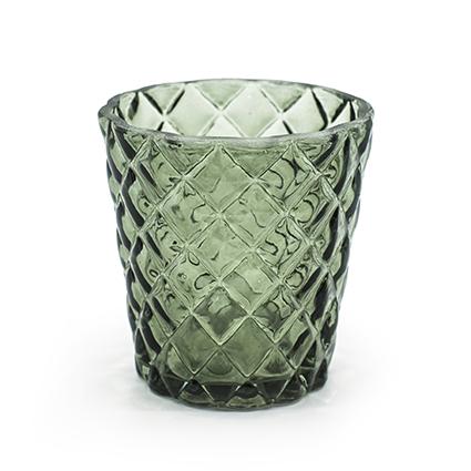 Sfeerlicht 'loulou' groen h7,5 d7,5 cm