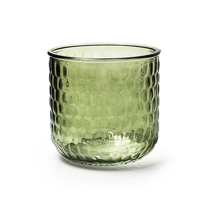 Vaas 'olivia' groen h12 d13 cm