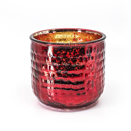 Vaas 'olivia' rood mercury h12 d13 cm
