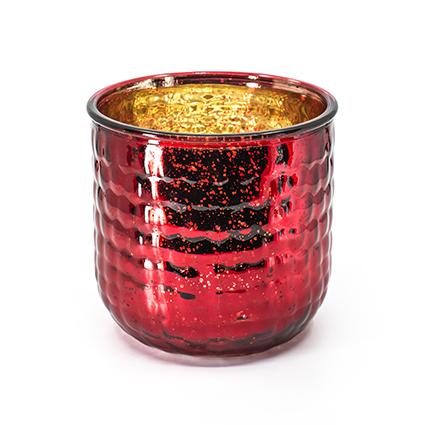 Vaas 'olivia' rood mercury h14,5 d15,5
