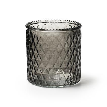 Vase 'rococo' grey h12,5 d12,5