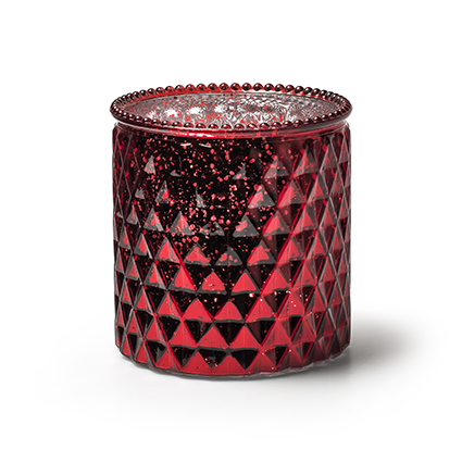 Vaas 'rococo' rood mercury h12,5 d12,5cm