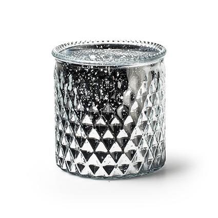 Vaas 'rococo' zilver mercury h12,5 d12,5
