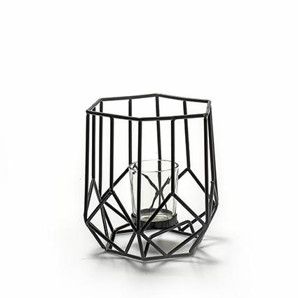 Metalen lantaarn 'malmo' h16 d16 cm