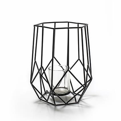 Metalen lantaarn 'malmo' h24 d20 cm