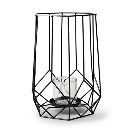 Metalen lantaarn 'malmo' h32 d25 cm