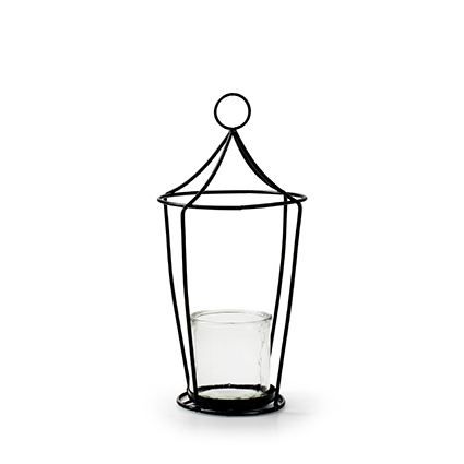 Lantern+glass 'tammy' h29 d14 cm