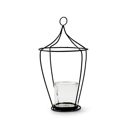 Lantern+glass 'tammy' h39 19 cm