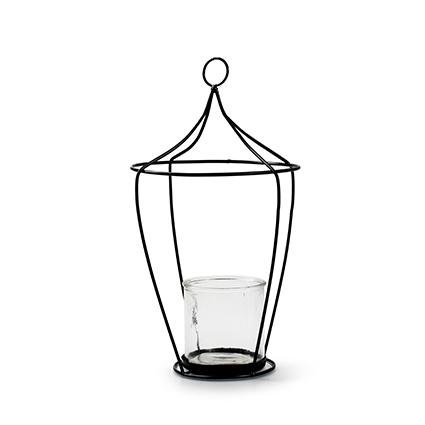 Lantaarn+glas 'tammy' h39 d19 cm