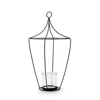 Lantern+glass 'tammy' h49 d26 cm