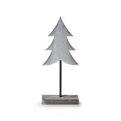 Wooden standing 'tree' grey h30 cm