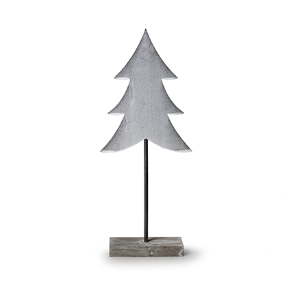 Wooden standing 'tree' grey h40 cm
