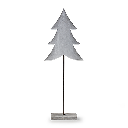 Wooden standing 'tree' grey h50 cm