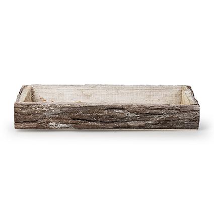 Onderbord 'bark' wit 34x14,5x4 cm