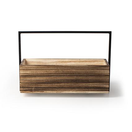 Wood+metal h9 d28x13 cm
