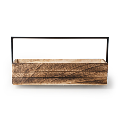 Wood+metal h9 d38x13 cm