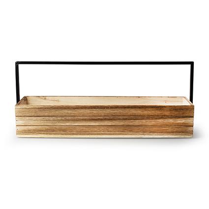 Wood+metal h9 d48x13 cm