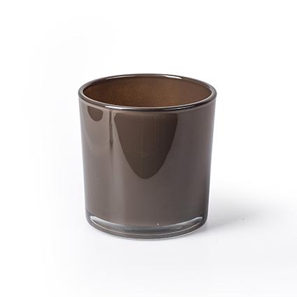 Con. vase 'monaco' brown  h10 d10 cm