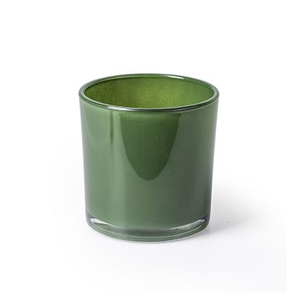 Con. vase 'monaco' green h10 d10 cm
