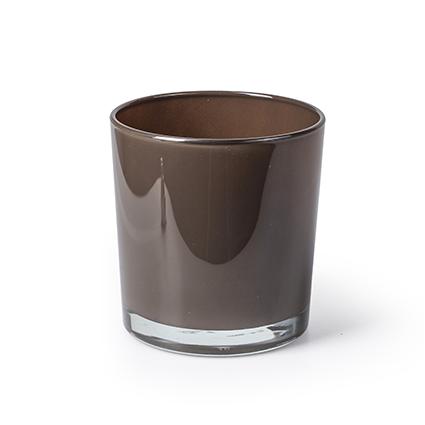Con. vase 'monaco' brown h12 d11,5 cm