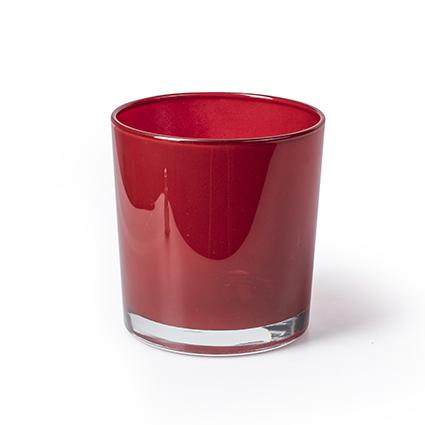 Kon. vaas 'monaco' rood h12 d11,5 cm