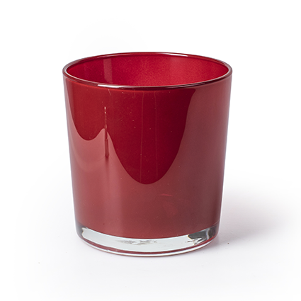 Conical vase 'monaco' red h13 d12,5 cm
