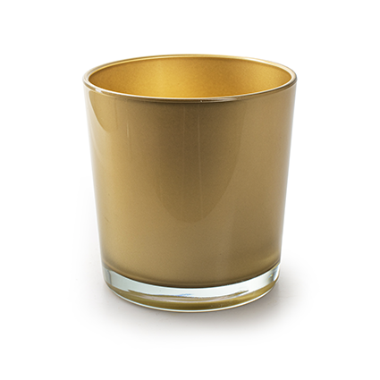 Conical vase 'monaco' gold h13 d12,5 cm
