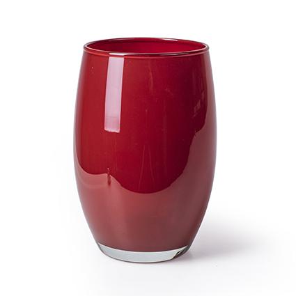 Vase 'galileo' red h20 d14 cm
