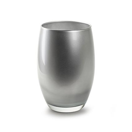Vase 'galileo' silver h20 d14 cm