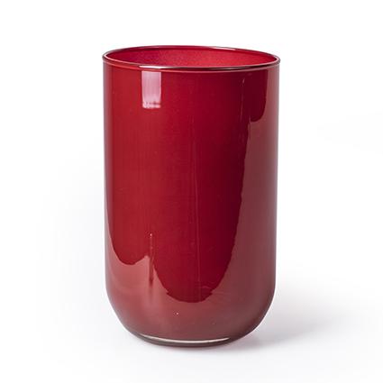 Cilinder 'davinci' rood h21 d13 cm