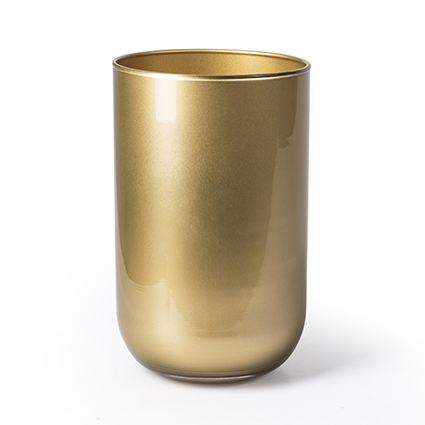 Cylinder 'davinci' gold h21 d13 cm