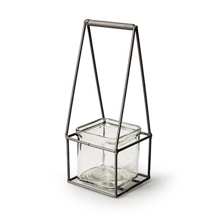 Metal+1x cube h23 d9x9 cm