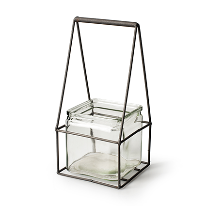 Metal+1x cube h24,5 d11,5x11,5 cm