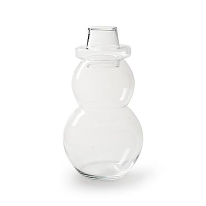 Glass snowman 2-parts h37 cm