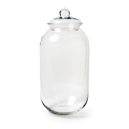 Glass jar + cover h52 d23 cm