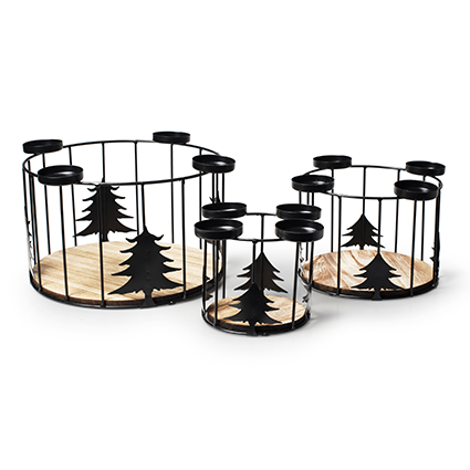 Set 3x christmastree crown with