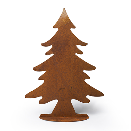 Standing christmastree rusty brown h35
