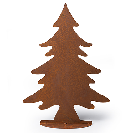 Standing christmastree rusty brown h45