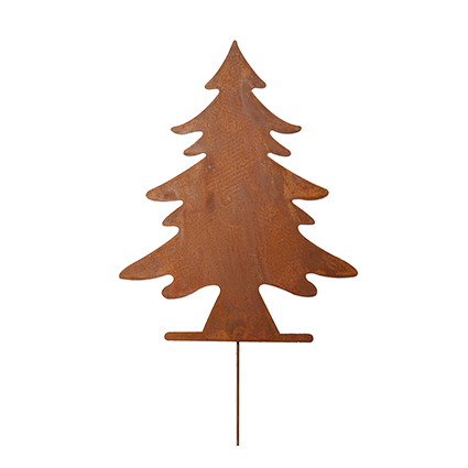 Christmastree on stick rustybrown h35