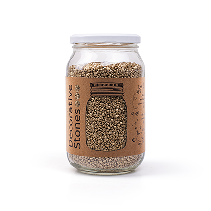 Jar deco granulate gold
