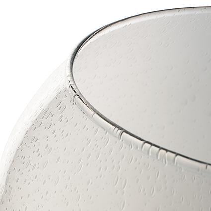 Glas op voet 'globe' met soda effect h70 d36 cm