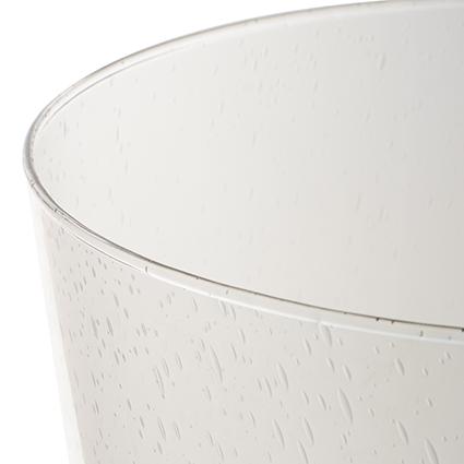 Vaas op voet 'lexus' met soda effect h24,5 d19 cm