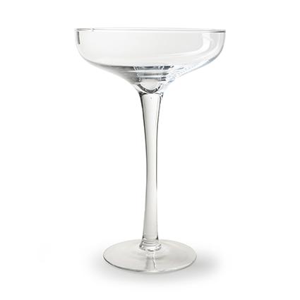 Glas op voet 'tini' h45 d27 cm