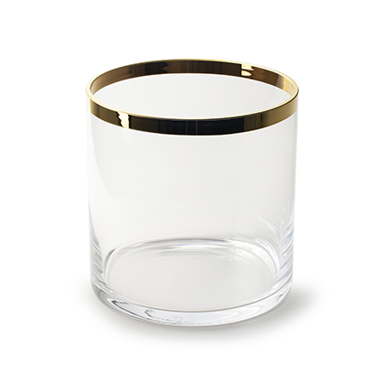 Vaas met gouden rand h23,5 d24 cm cc
