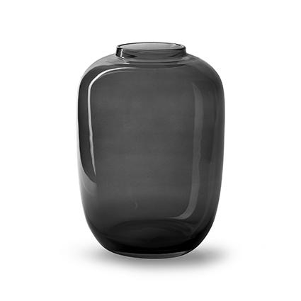 Vase 'noah' grey h27 d19,5 cm cc