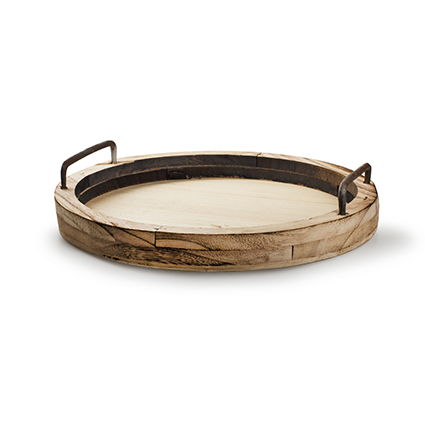 Wooden plate naturel h3 d29,5 cm